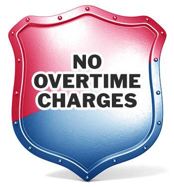 No Overtime Charges with Postma